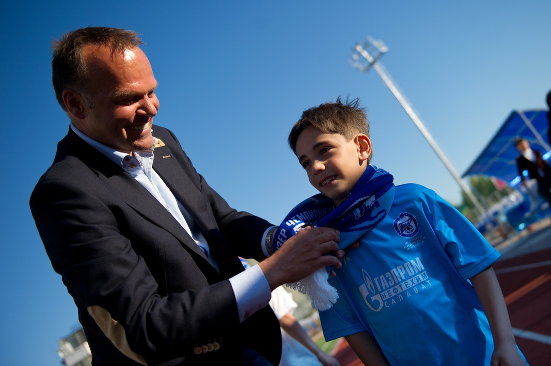 Henk van Stee, FC Zenit Academy Director, at Salavat affiliate opening ceremony