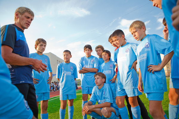 Trainees of the branch of Zenit Football Academy