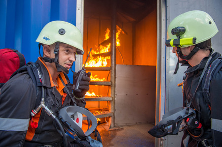 A training area for the gas rescue team and fire-fighters has been brought into use in the Company