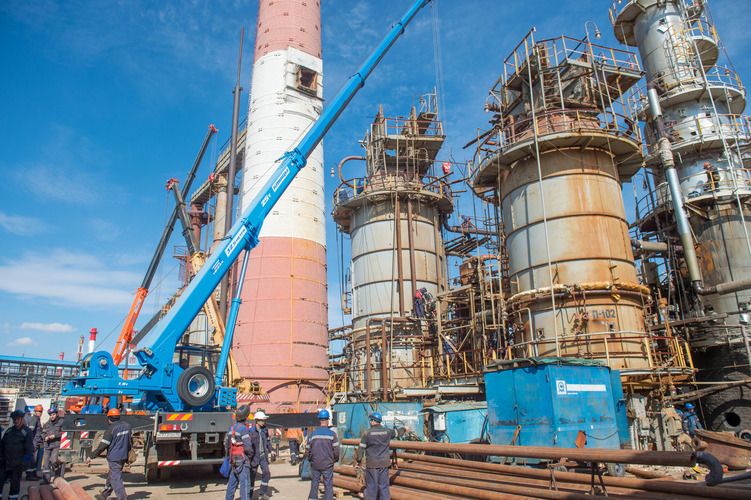1st stage maintenance complete at the Oil Refinery